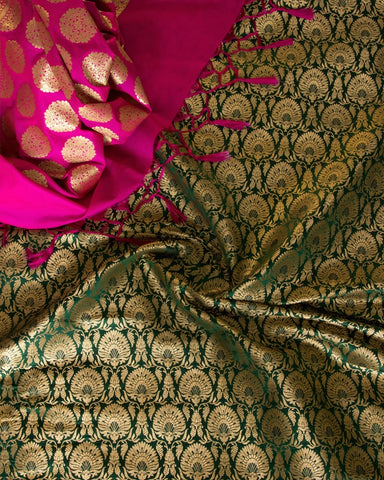 Banarasee Satin Brocade Silk Fabric 162