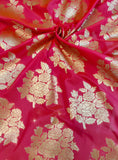Banarasee Satin Brocade Silk Fabric 056