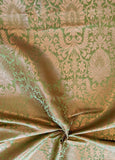 Banarasee Satin Brocade Silk Zari Jaal Fabric- 046