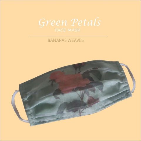 Green petals face mask 1