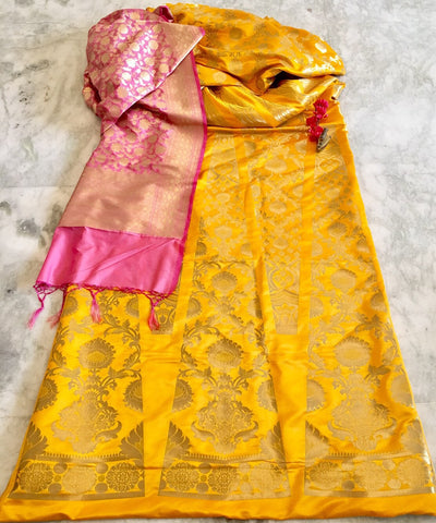 BANARASEE SILK KALIDAAR LEHENGA 016- Made to Measure