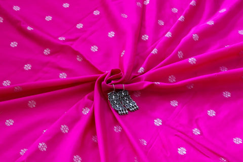Banarasee Pure Chanderi silk Fabric 001 - Pre-cut fabric of 1.5 metres