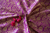 Banarasee Satin Brocade Silk Fabric 103