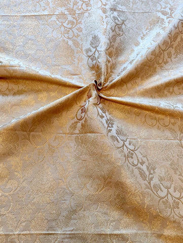 Banarasee Satin Brocade Silk Fabric 090