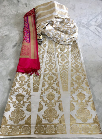 BANARASEE SILK KALIDAAR LEHENGA 022- MADE TO MEASURE