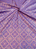 Banarasee Satin Brocade Silk Fabric 067