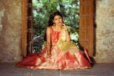 BANARASEE SILK KALIDAAR LEHENGA -037- MADE TO MEASURE