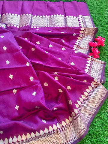 Banarasee Pure Chanderi Silk Dupatta 044