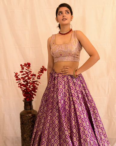 •••UTSAVA••• BANARASEE PURE SILK LEHENGA 045 - MADE TO MEASURE
