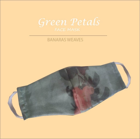 Green petals face mask 2