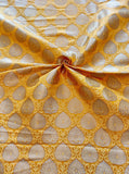 Banarasee Satin Brocade Silk Fabric 082