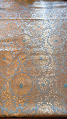 Banarasee Satin Brocade Silk Zari Fabric 02