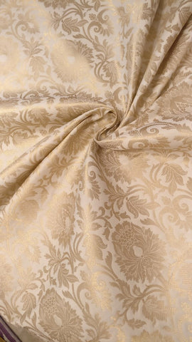 Banarasee Satin Brocade Silk Zari Fabric 03