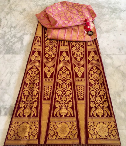BANARASEE SILK KALIDAAR LEHENGA 015 - Made to Measure