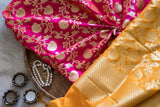 Banarasee Thin Silk Zari Jaal Fabric 123
