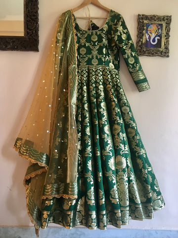 Banarasee Silk Anarkali 05
