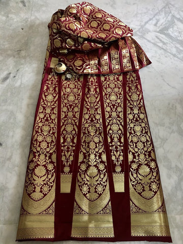 BANARASEE SILK KALIDAAR LEHENGA -032- MADE TO MEASURE