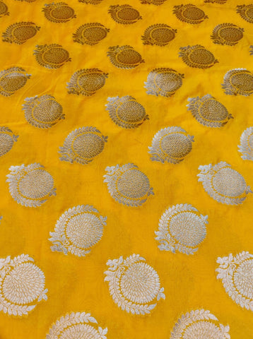 Banarasee Satin Brocade Silk Fabric 057 - pre-cut fabric of 1.90 metres