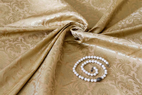 Banarasee Satin Brocade Silk Fabric 098