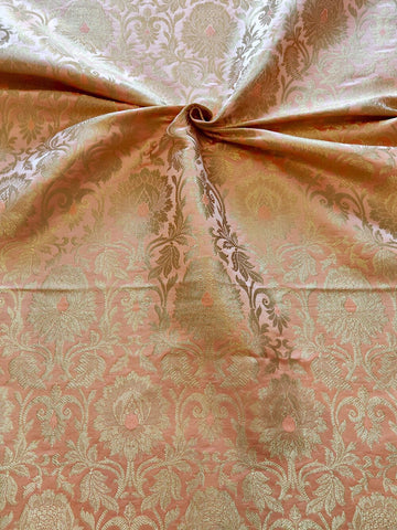 Banarasee Satin Brocade Silk Fabric 065