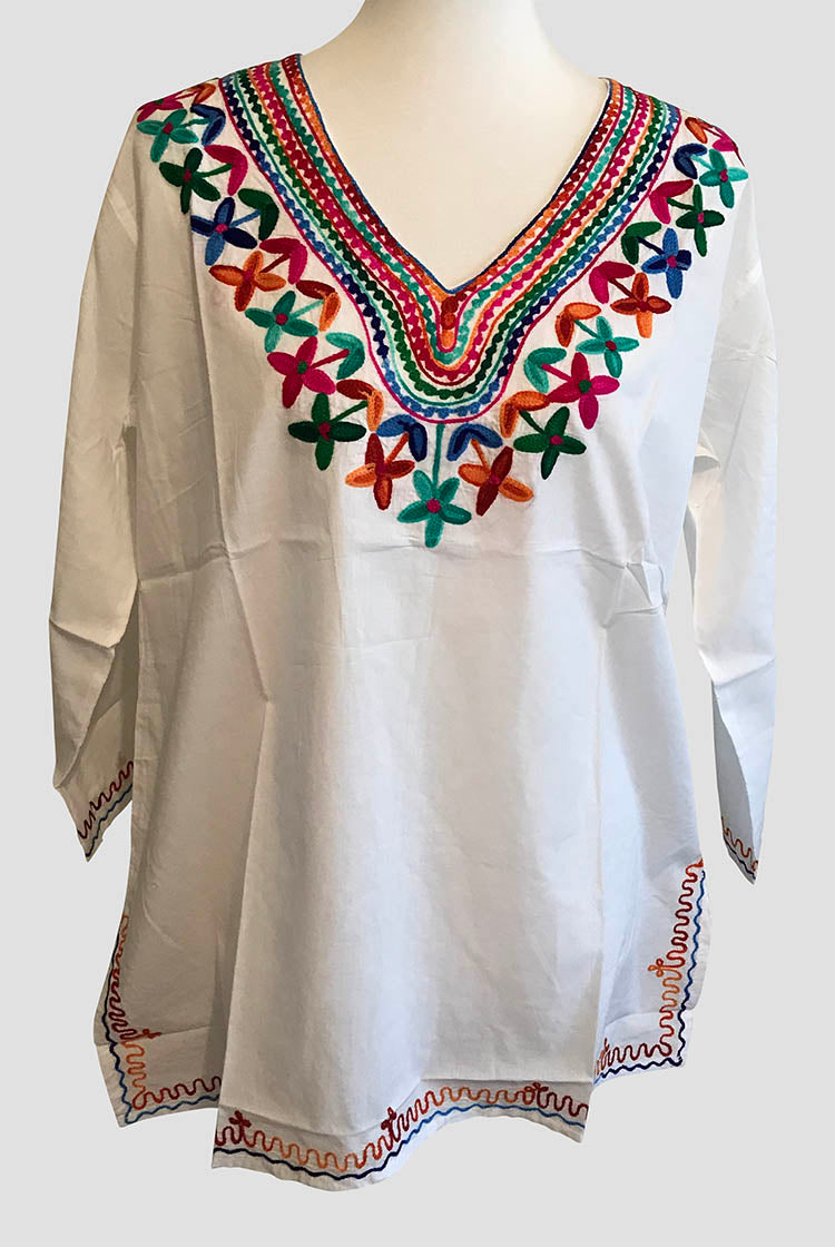 MixColor Heavy Embroidery Short Kurti