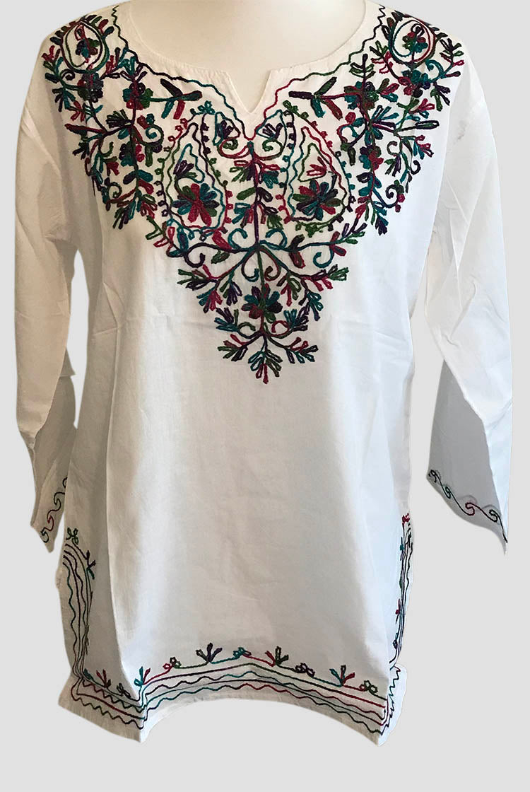 Stepple Embroidery Short Kurti 002