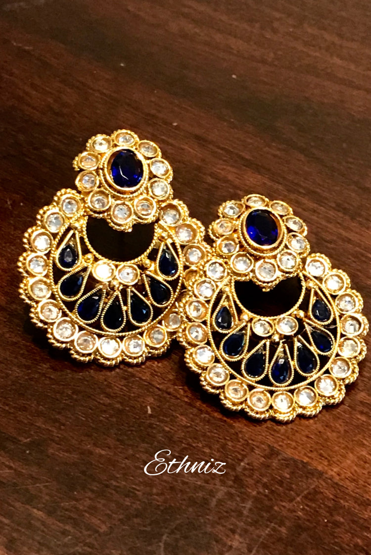 Indigo Stone Small Earring