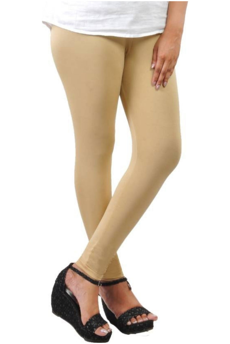 Beige Churidar Legging