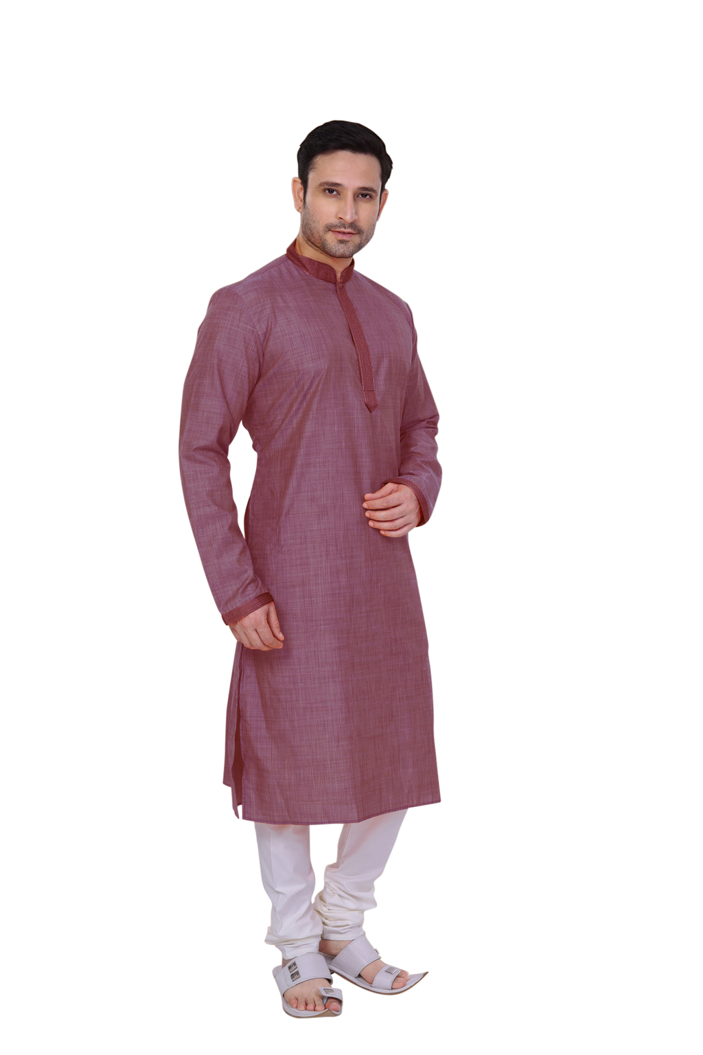 Ethniz - Men's Kurta with Churidar - Rouge