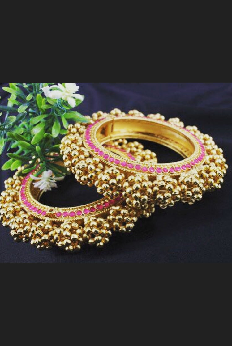 Traditional Golden Beads Bangles in size 2-8