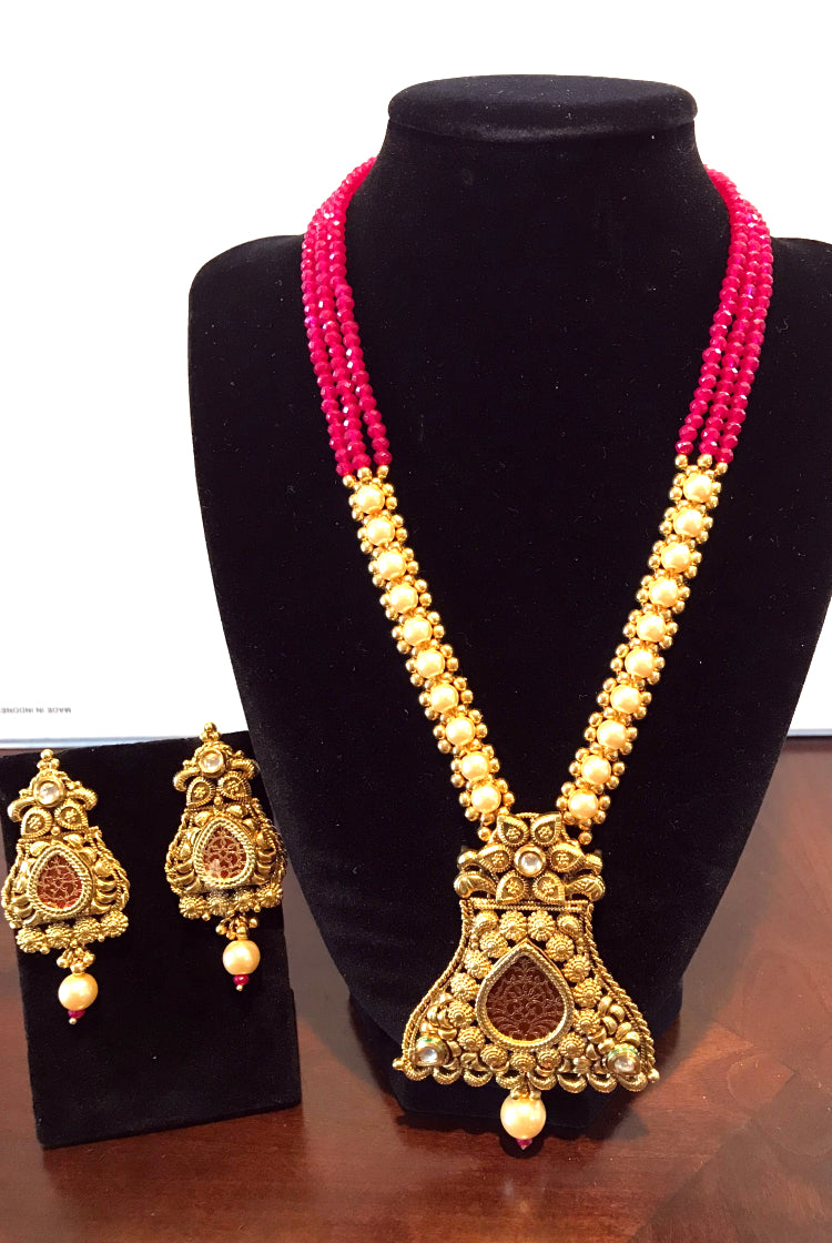 Necklace Set- Pink