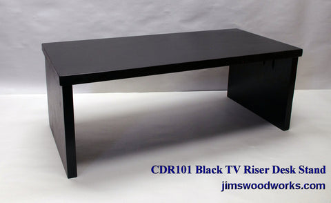 TV Riser Desk Riser Black Hardwood