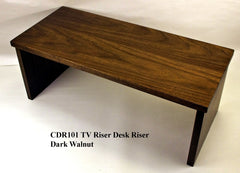 Walnut TV Stand Desk Riser