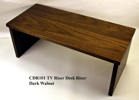 TV Riser Desk Riser Dark Walnut