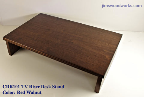TV Riser Desk Riser - Red Walnut