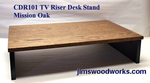 TV Riser Desk Riser Mission Oak
