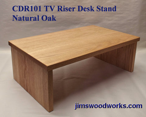TV Riser Desk Riser Natural Oak