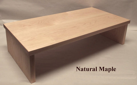 TV Riser Desk Riser Natural Maple