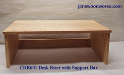 "CDR601 Desk Riser with Support Bar - 24"" Length"