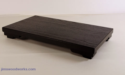 In Stock Black C2930 Low Profile Bonsai Stand  14.5L - 10.5W - 1.625H