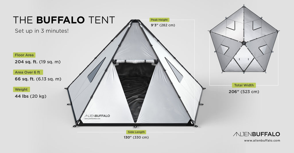 ALIEN BUFFALO CHANGES THE CAMPING GAME WITH THEIR NEW SHELTER DESIGN: THE BUFFALO TENT