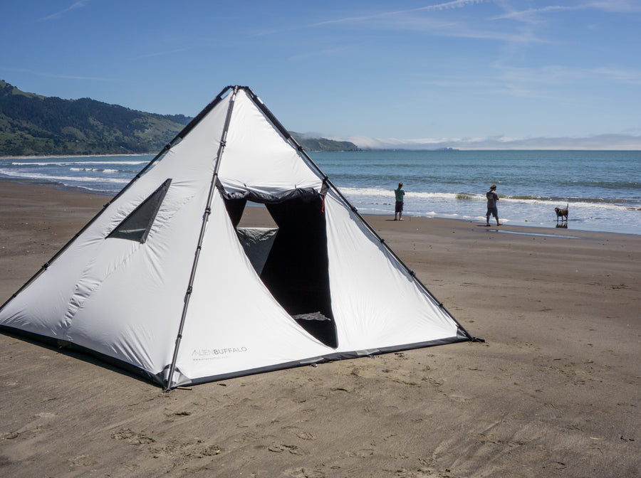 Giant ultra-portable travel shelters