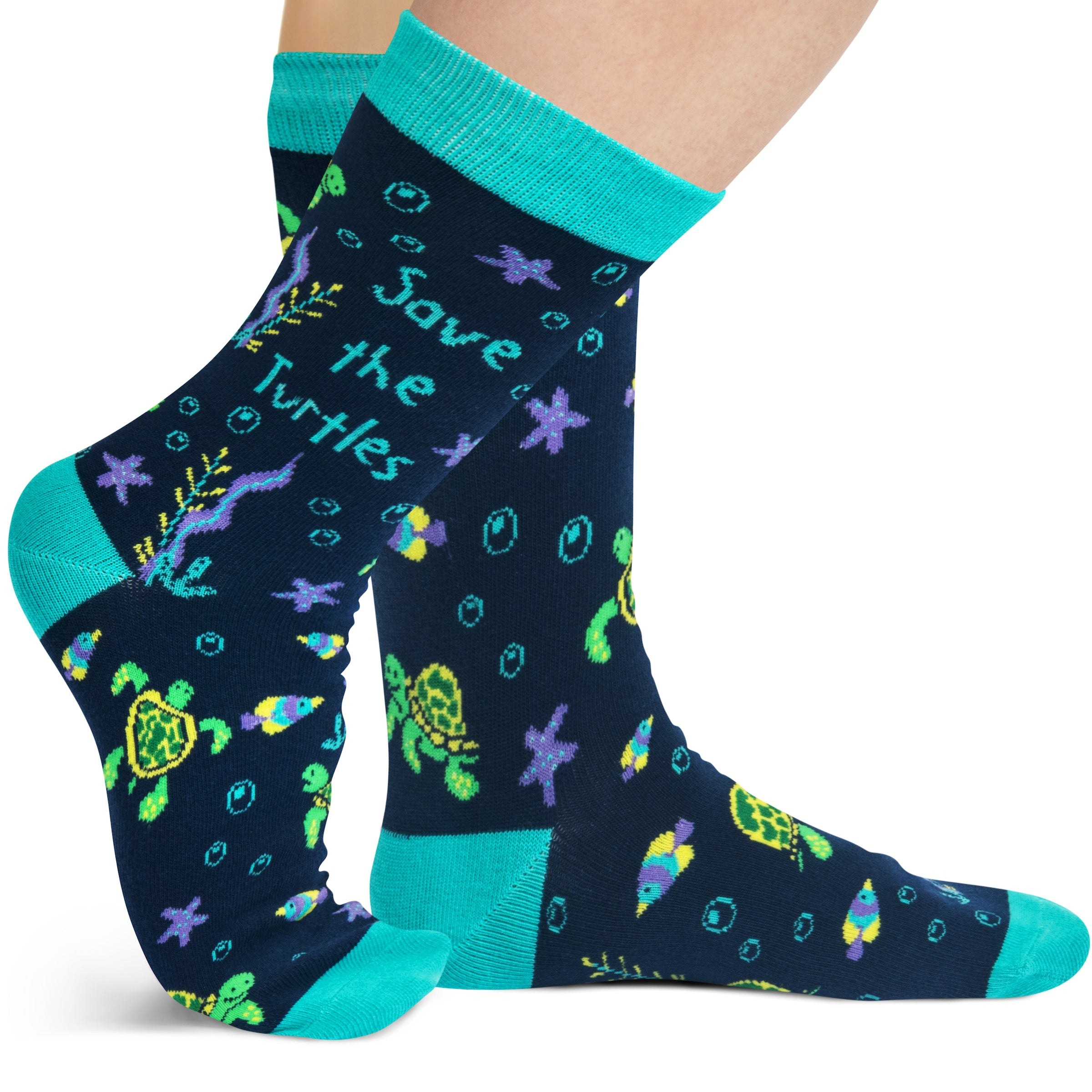 Lavley Save The Turtles Socks