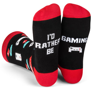 I'd Rather Be Gaming Crew Socks