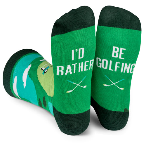 I'd Rather Be Golfing Socks