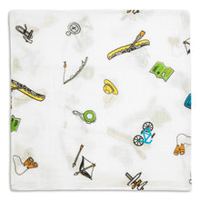 Camping Mountain Theme Baby Swaddles (4 Pack)
