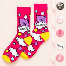 "Bad Kitty ""F%ck Cancer"" Socks"