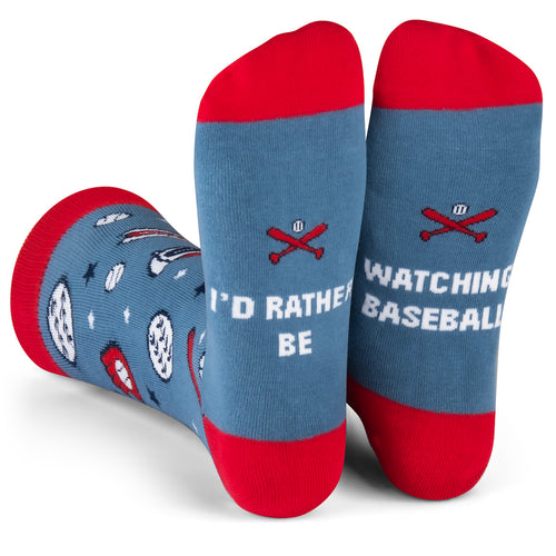 I'd Rather Be Watching Baseball Socks