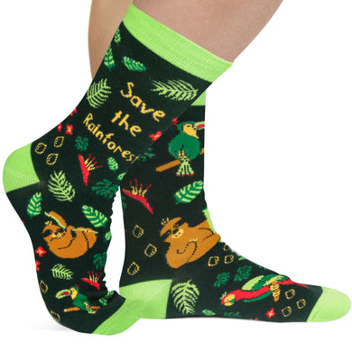 Save The Rainforest Socks