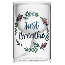 Inspirational Self-Watering Ceramic Indoor Planter Pot with Glass Vase (Medium)